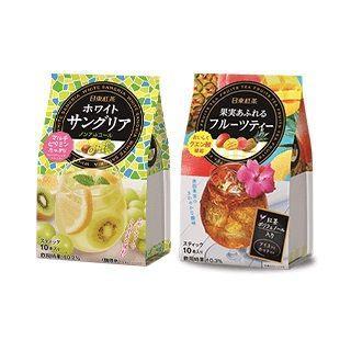 日東紅茶 ホワイトサングリア/果実あふれるフルーツティー 2種10点(茶)