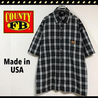 エフビーカウンティ(FB COUNTY)のFB COUNTY★カリフォルニア発ストリート★モノトーンチェックワークシャツ(シャツ)