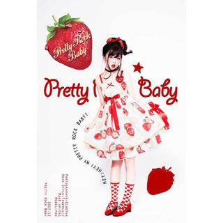 アンジェリックプリティー(Angelic Pretty)のstrawberry star ワンピース 3点セット(ひざ丈ワンピース)