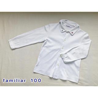 ファミリア(familiar)のfamiliar  襟刺繍長袖ブラウス 100(ブラウス)