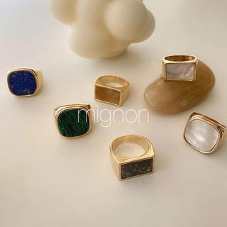 フィリップオーディベール(Philippe Audibert)のoldcelin ring & rapis ring 《gold》(リング(指輪))
