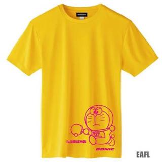 新品 未使用 ドラえもん 卓球Tシャツ  イエロー×マゼンタ  LLサイズ (卓球)