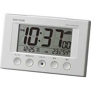 ホワイトリズム時計 RHYTHM 電波 目覚まし 時計 フィットウェーブスマート(置時計)