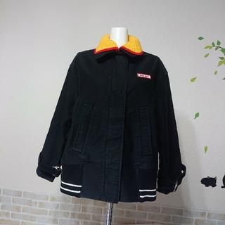 ミュウミュウ(miumiu)のミュウミュウ MiuMiu 本物 ロゴ コットン コート デニム ジャケット(Gジャン/デニムジャケット)