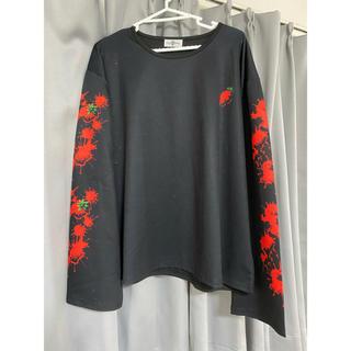 ファンキーフルーツ(FUNKY FRUIT)のドラッグハニー 苺 Tシャツ 黒(Tシャツ(長袖/七分))