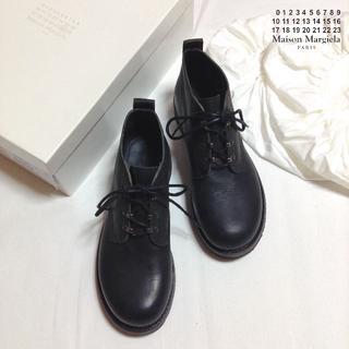 マルタンマルジェラ(Maison Martin Margiela)の新品■40■マルジェラ 18aw■黒■ハーフミリタリーブーツ■8364(ブーツ)