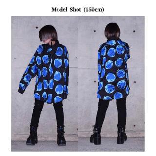 エーシーディーシーラグ(ACDC RAG)の青リンゴ シャツ 黒 ACDC RAG(シャツ/ブラウス(長袖/七分))