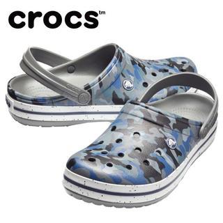 クロックス(crocs)のラスト1 クロックス 26cm ブルー ブラック グレー 迷彩 サンダル (サンダル)