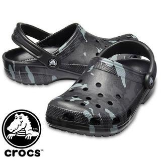 クロックス(crocs)のラスト1 クロックス 26cm グレー ブラック グラフィック クラシック (サンダル)