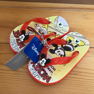 エフオーキッズ(F.O.KIDS)の新品タグ付き ampersand ミッキーマウスビーチサンダル 15cm(サンダル)