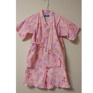 ディズニー(Disney)のミニーマウス、甚平、ピンク、120サイズ(甚平/浴衣)