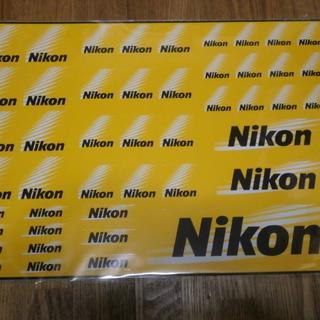 ニコン(Nikon)のNikon ニコン ロゴ ステッカー A4サイズ 未使用品(その他)