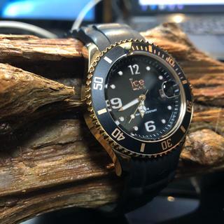 アイスウォッチ(ice watch)のICE WATCH 10th Anniv ブラックローズゴールド(腕時計(アナログ))