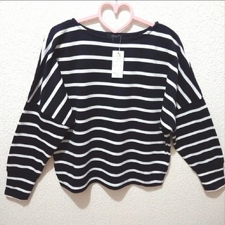 Avail - 新品 ボーダー 厚手 カットソー♥L GRL