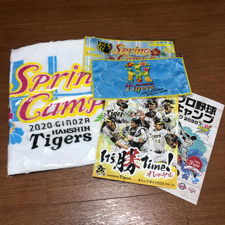 ハンシンタイガース(阪神タイガース)の阪神タイガース 2020 沖縄キャンプ 限定タオル 3枚セット(記念品/関連グッズ)