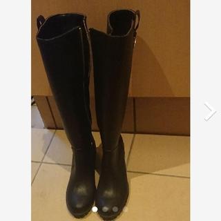 ロングブーツ 黒 レインブーツ ラバーブーツ(レインブーツ/長靴)