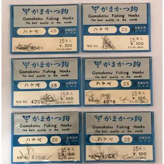 がまかつ - がまかつ 製  ハヤベ 2.5号 6袋セット