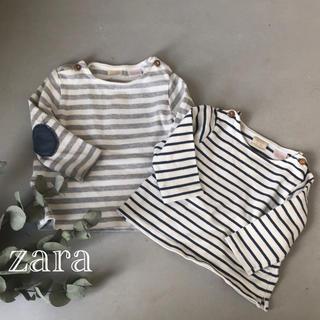 ザラ(ZARA)のZARA★ザラベビー  ボーダーロンT 2枚セット(Tシャツ)