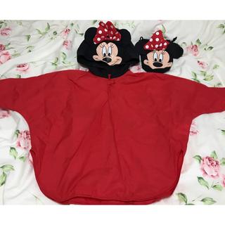 ディズニー(Disney)のミニーちゃんレインポンチョ80~100cm(レインコート)