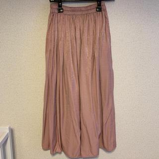 ユニクロ(UNIQLO)のドレーブギャザーロングスカート XS(ロングスカート)
