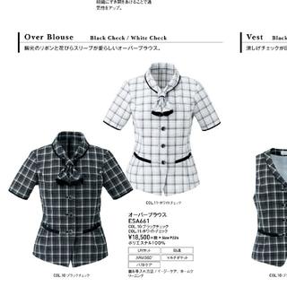 エンジョイ(enjoi)のカーシーカシマ 事務服 夏用 オーバーブラウス 11号(シャツ/ブラウス(半袖/袖なし))