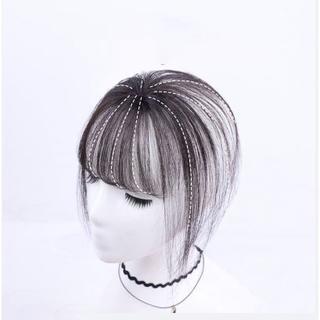 前髪ウィッグ 人毛 3D ダークブラウン(前髪ウィッグ)