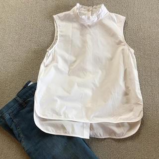 MACPHEEスタンドカラーコットンシャツ
