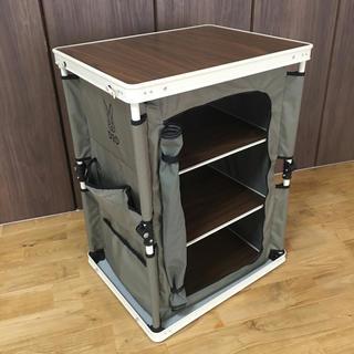 ドッペルギャンガー(DOPPELGANGER)のdod マルチキッチンテーブル 廃盤品 カーキ 中古品(テーブル/チェア)