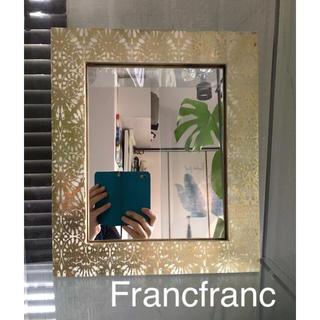 フランフラン(Francfranc)の縁起が良いゴールドのウォールミラー Francfranc(壁掛けミラー)