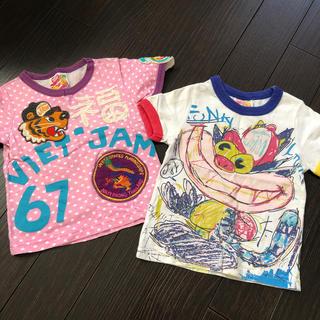 ジャム(JAM)のJAM☆ジャム 半袖Tシャツ 2点 サイズ90cm グラグラ 好きにも(Tシャツ/カットソー)