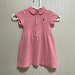 ファミリア(familiar)のfamiliar    ポロシャツ ワンピース ピンク 90(ワンピース)