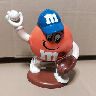 エムアンドエムアンドエムズ(m&m&m's)のm&m ディスペンサー おもちゃ橙 ベースボール(キャラクターグッズ)
