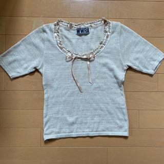 ラメニット 半袖(カットソー(半袖/袖なし))