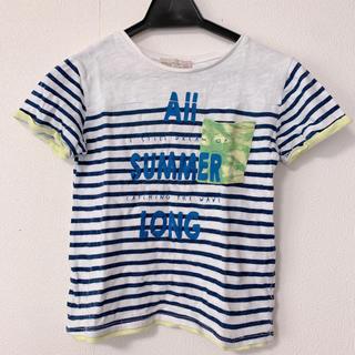 ザラ(ZARA)のZARAキッズボーダーTシャツ 122cm(Tシャツ/カットソー)