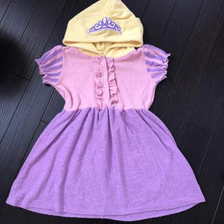 Disney - ディズニー☆プリンセス ラプンツェル パイル素材ワンピース  120cm