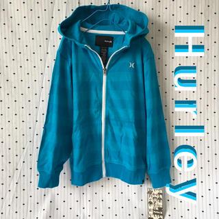 ハーレー(Hurley)のHURLEYハーリーUS限定ボーダー フーディー パーカ kids 7(Tシャツ/カットソー)