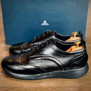 Cole Haan - 【値下げ交渉可】ブラックレザー 革靴 ウィングチップスニーカー43size