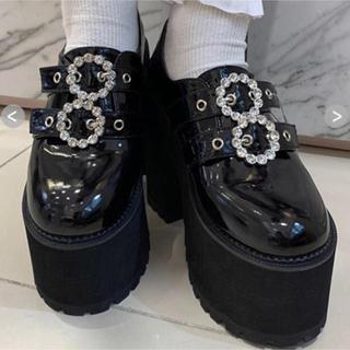 バブルス(Bubbles)のバブルス ダブルバックル厚底シューズ(ローファー/革靴)