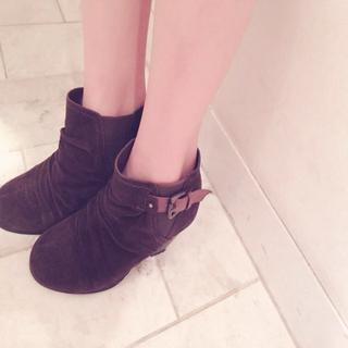 ブラウンショートブーツ(ブーツ)