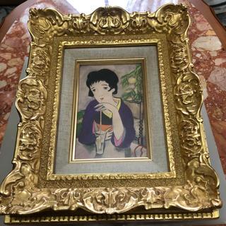 綺麗な金色額縁グワッシュ絵画『夢二』(絵画/タペストリー)