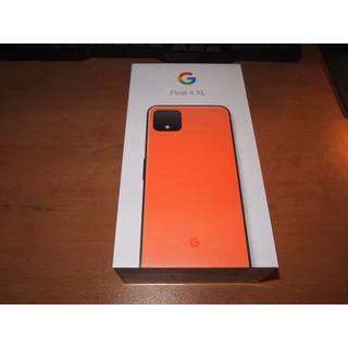 ソフトバンク(Softbank)のSoftbank Pixel4 XL 64GB simフリー オレンジ 未使用(スマートフォン本体)