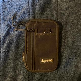 シュプリーム(Supreme)の19fw シュプリーム  Small Zip Pouch  ポーチ 黒 財布(折り財布)