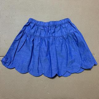 マザウェイズ(motherways)のマザウェイズ スカラップデニムスカート サイズ90(スカート)