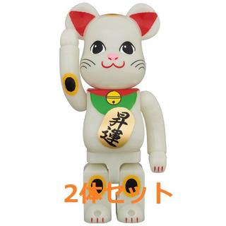 BE@RBRICK 招き猫 昇運 蓄光 400% ベアブリック(その他)