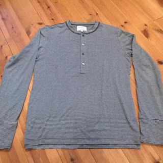 アダムエロぺ(Adam et Rope')のアダムエロペ ボーダー ロンT ヘンリーネック カットソー M(Tシャツ/カットソー(七分/長袖))