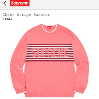 Supreme - Supreme Chest Stripe Sweater   Coral  S