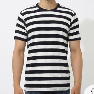 アズールバイマウジー(AZUL by moussy)のアズール AZUL パイルボーダークルーネック半袖T Tシャツ(Tシャツ/カットソー(半袖/袖なし))