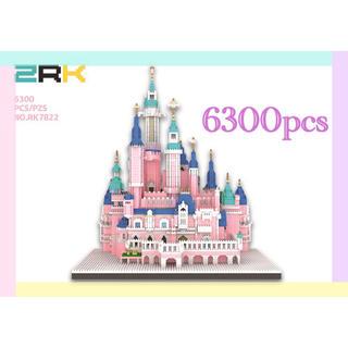 レゴ(Lego)のシンデレラ城 ナノブロック 大型 ピンク(模型/プラモデル)