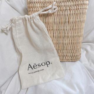 イソップ(Aesop)の〆Aesop 巾着ショッパー ※通常サイズ ☆即日発送☆(ショップ袋)