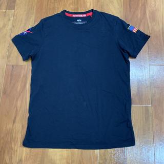 アルファインダストリーズ(ALPHA INDUSTRIES)の新品 未使用品 一部汚れあり alpha NASA Tシャツ ネイビー(Tシャツ/カットソー(半袖/袖なし))